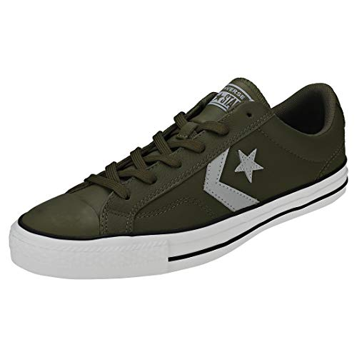 Converse Men's Star Player Ox Leather Trainers, Green, 7 US