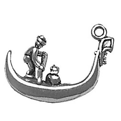 Corinna-Maria 925 Sterling Silver Venice Italy Gondola Boat - Boat Italian Charm