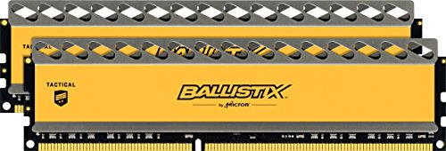 Ballistix Tactical 16GB Kit (8GBx2) DDR3 1600 MT/s (PC3-12800) UDIMM 240-Pin Memory - BLT2KIT8G3D1608DT1TX0 by Ballistix