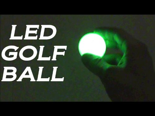 LED Golf Ball Green, Night Flyer with Smart Electronics, Great Quality