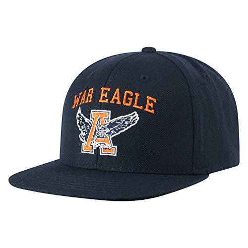 (Top of the World NCAA Auburn Tigers Men's Flat Brim Snap Back Team Icon Hat, Navy)