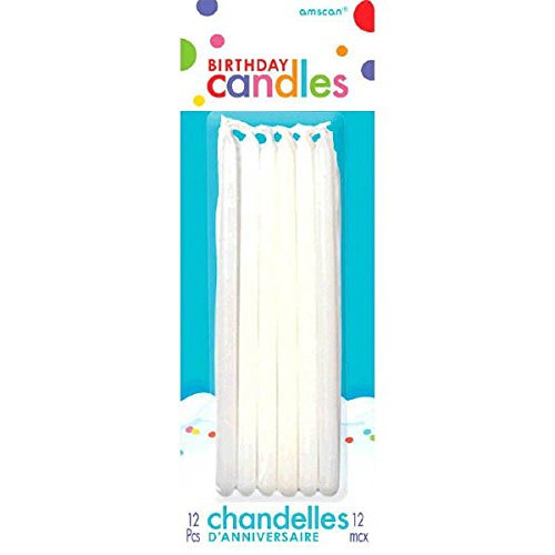Amscan Any Occasion Candles, Mini Taper Candles, Party Supplies, White, 5