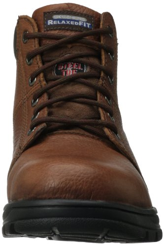 Lavoro Relaxed Boot Acciaio Brown Workshire Fit 77009 Punta In Skechers dqvnTFpd
