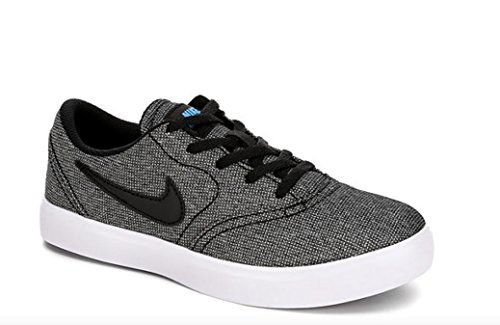 Skateboarding Boys Shoe (NIKE Boy's SB Check Canvas (PS) Skateboarding Shoes (1.5 Little Kid M, Black/Black/White/Photo Blue))