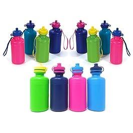 Bulk Water Sports Bottles for Kids (12 Pack) Bulk Drink Bottles, for Kids & Adult 7.5 inches, Great Summer Beach…