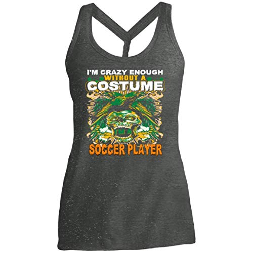 Women's Soccer Player Costume Halloween Funny Gifts Shirt - Tank -
