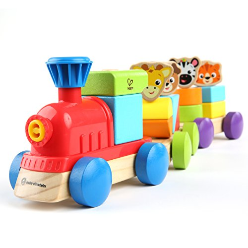 Baby Einstein Discovery Train Wooden Train Toddler Toy, Ages 18 months and up