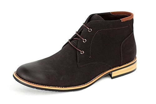Mens Casual Ankle Boots Fashion Chelsea Faux Suede Shoes Coffee 98oNi