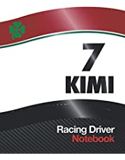 """7 KIMI Racing Driver Notebook: Alfa Race Car Livery Cover Design 2020 with World Champion 7 Race Number, 7.5"""" x 9.6"""" Size 110 College Ruled page (55 sheet) Suitable for Homework, Notes, Composition, Journal, Car Maintenance Schedule log, Birthday Gift"""