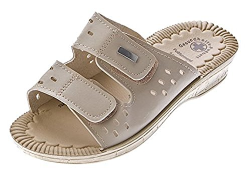 Schuhzoo - Damen Pantolette Sandalen Hausschuhe Gr. 36-41 Beige