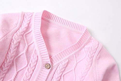 SMILING PINKER Baby Boys Girls Cardigans V-Neck Solid Sweaters Cable Knitted  Button Coats Outwear 5cba4cb92