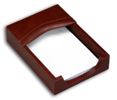 Dacasso Mocha Leather Memo Holder, 4-Inch by 6-Inch by Dacasso