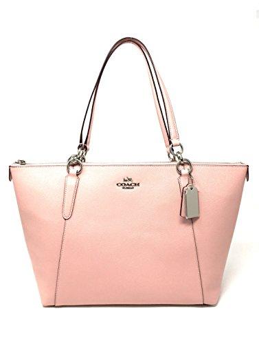 Coach Side Zip Tote (Coach Crossgrain leather AVA Tote bag in Blush2)