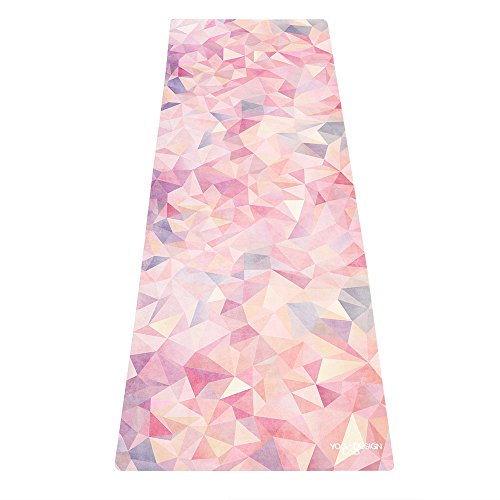 YOGA DESIGN LAB THE COMBO YOGA MAT by Eco Luxury Mat/Towel that Grips the More You Sweat | Designed in Bali | Ideal for Hot Yoga, Bikram, Pilates| Includes Carrying Strap! (Aamani, 70 x 24)