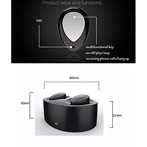 4694c1d7be0 60%OFF (Black) Bluetooth Headset Dual Bluetooth Earbuds | Wireless Bluetooth  Headphones with