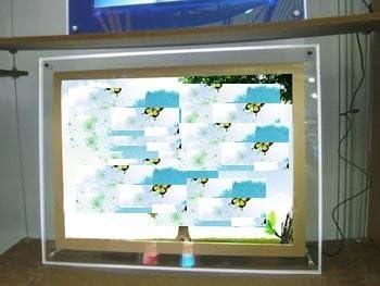 GOWE LED de fotos de cristal caja de luz, 24