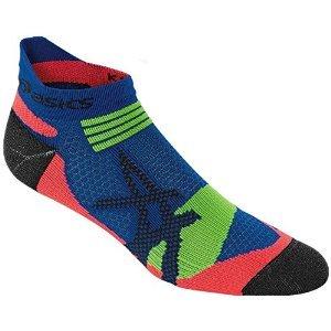 ASICS Kayano Single Tab Sock, Large, Air Force Blue/Green Gecko