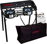 Camp Chef Explorer 2-Burner Stove (EX60LW) and Carry Bag (CB60UNV) - Bundle (2-Burner Stove & Carry Bag)