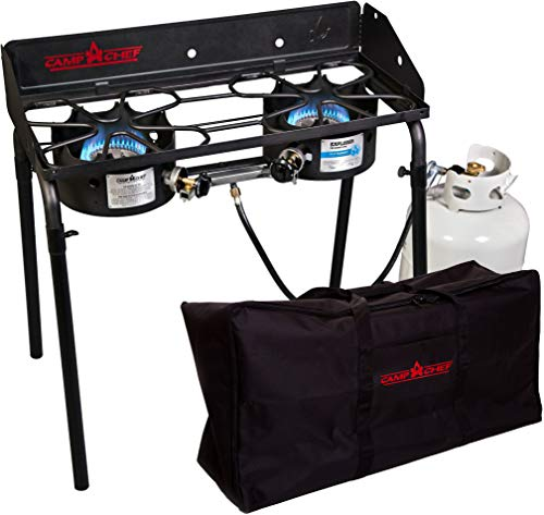 Camp Chef Explorer 2-Burner Stove  and Carry Bag  - Bundle