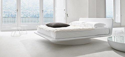 White modern platform bed Glossy White Flyg Modern Platform Bed King Size white Amazoncom Amazoncom Flyg Modern Platform Bed King Size white Kitchen Dining