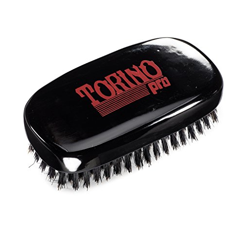 Torino Pro Wave Brush #120 by Brush King - 7 Row, Medium Palm Wave Brush - Made with 100% Boar Bristles - Great for Wolfing - 360 Waves Brush