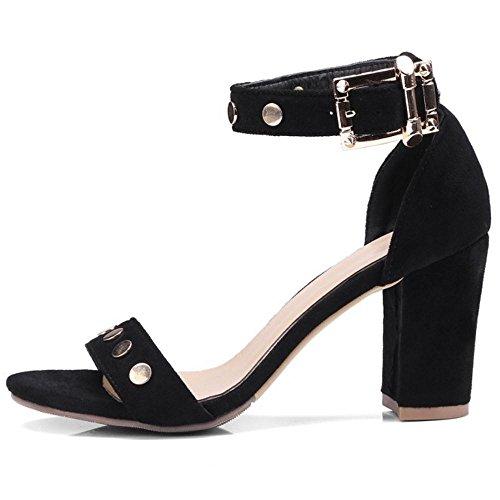 Taoffen Ouvert Classique Femmes Black Sandales 3 Bout vvAZqrOw