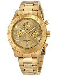 Invicta Men's 1279 II Collection Chronograph Gold Dial 18k Gold Ion-Plated Stainless Steel Watch