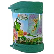 """Officially Licensed Disney Tinkerbell """"Sparkles"""" Throw Blanket 50"""" X 60"""""""