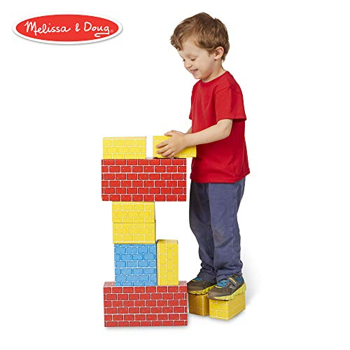 Melissa & Doug Deluxe Jumbo Cardboard Blocks (Developmental Toys, Extra-Thick Cardboard Construction, 24 Pieces, 19