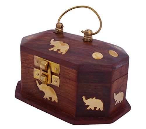 Wooden Jewelry Box for Girls | Women - Organizer Storage Display Case Birthday Gifts for Mom (Design 18)
