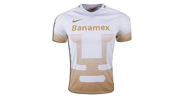 Nike Camiseta réplica de fútbol Pumas Away 2015 - 2016 (Blanco/Dorado) - 695682 106, Large, Blanco/Dorado: Amazon.es: Deportes y aire libre