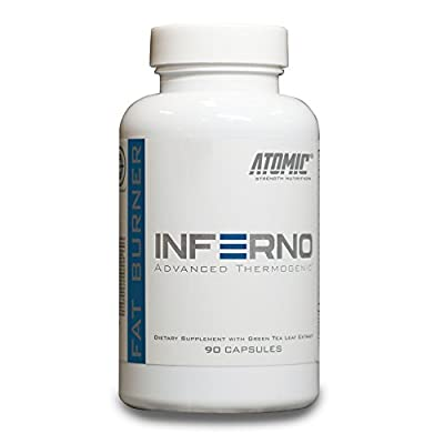 Inferno Natural Fat Burner by Atomic Strength Nutrition | Increase Metabolism, Steady Energy Flow, Thermogenic, Appetite Suppressor - 90 Capsules