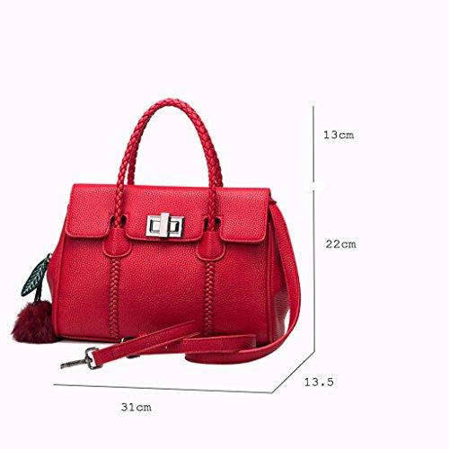 Lxf20 Sac Black sac à bandoulière litchi motif à Sac à bandoulière sac féminin bandoulière afradqxH