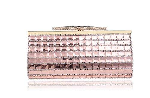 Sac Soirée Sac De Femmes Enveloppe À Pochette Glitter Pour Main Clubs Dames Pink Sequin Strass Nuptiale Party Mariage Main Épaule Prom À Sac Cadeau qAqaOnIw5