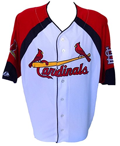 (St. Louis Cardinals Majestic Wheel House White Jersey Size)