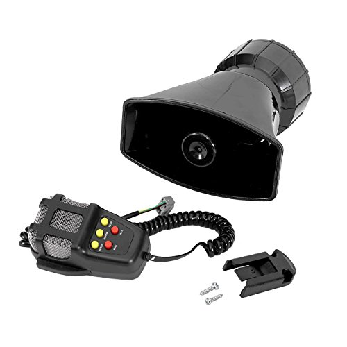Partol 5 Tone Sound Car Siren Vehicle Horn Mic PA Speaker System 100W Emergency Amplifier Microphone