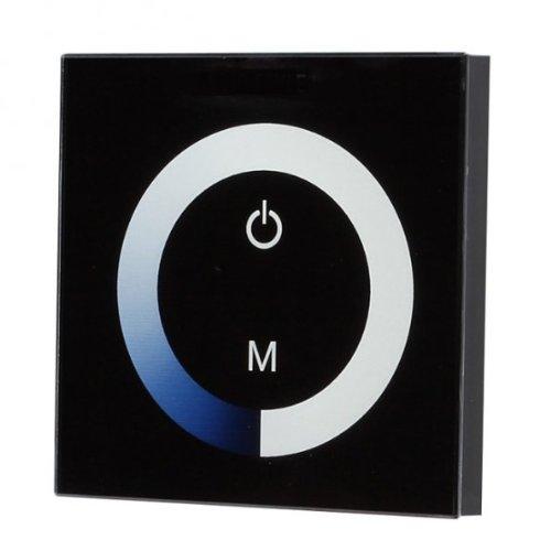 Glas Design LED Dimmer Controller für Wandeinbau Wanddimmer Touch Panel 12-24V *Schwarz*