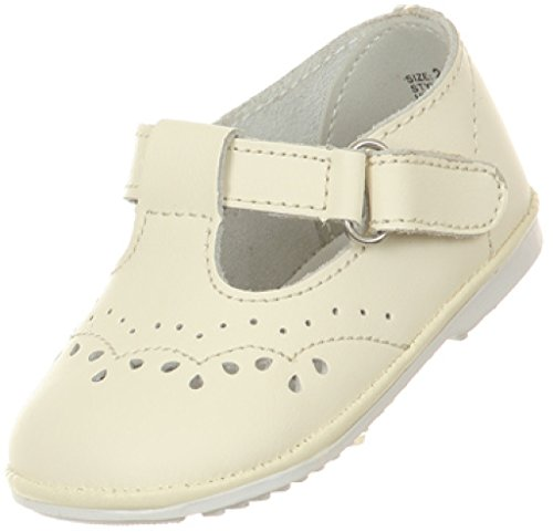 infant size 4 ivory dress shoes - 8