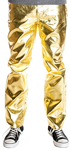 Ragstock Men's Metallic Shiny Jeans, Gold-32 ()