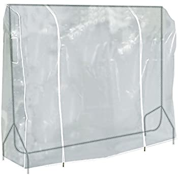 Hangerworld 6 ft (184cm) Transparent Clothes Garment Rail Cover with Strong Zipper and Document Pocket
