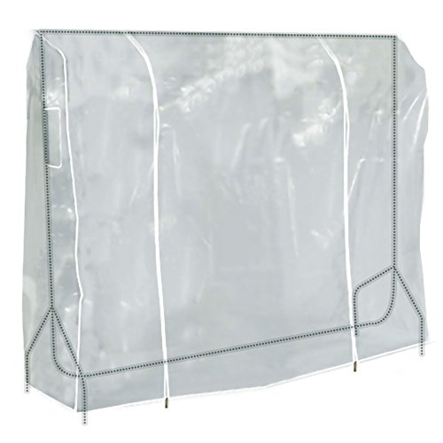 Hangerworld 6 ft (184cm) Transparent Clothes Garment Rail Cover with Strong Zipper and Document Pocket (Rack Cover)
