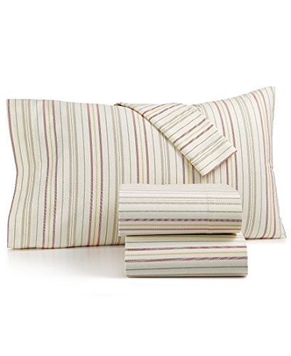 (Martha Stewart Collection 100% Cotton Flannel Sheet Set Multi-Stripe (Twin))