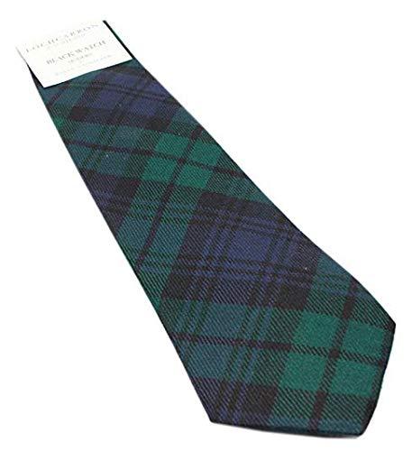 Black Watch Modern Wool Plaid Check Tartan Tie ()