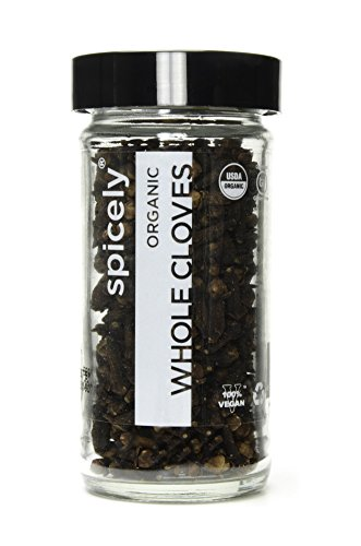 Spicely Organic Cloves Whole 1.10 Ounce Jar Certified Gluten Free