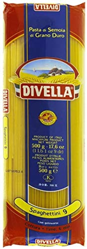 10x Pasta Divella 100% Italienisch Spaghettini N° 9 500g