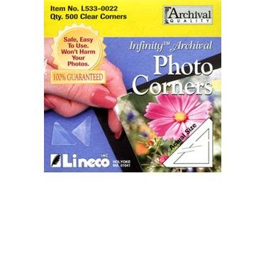Lineco Infinity Archival Clear Photo Corners pack of (Clear Photo)