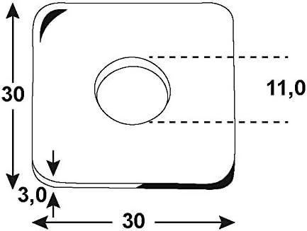 verzinkt Connex Bauscheiben 6,6 x 22 x 2 mm DIN 440 KL4180036 1000 g