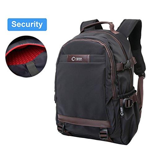 College Backpack for Women and Men, CrossLandy 15.6 Inch School Slim Laptop Backpacks Water Resistant Travel Daypack Casual Rucksack