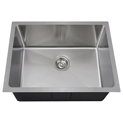 1823 14-Gauge Undermount Single Bowl 3/4-Inch Radius Stainless Steel Kitchen Sink