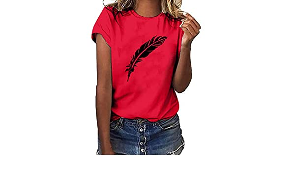 SMILEQ Camiseta con Estampado en Talla Grande para Mujer Camiseta ...